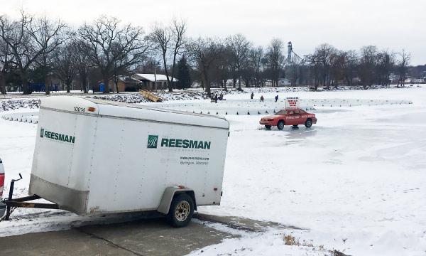 Ice Rink Under Construction