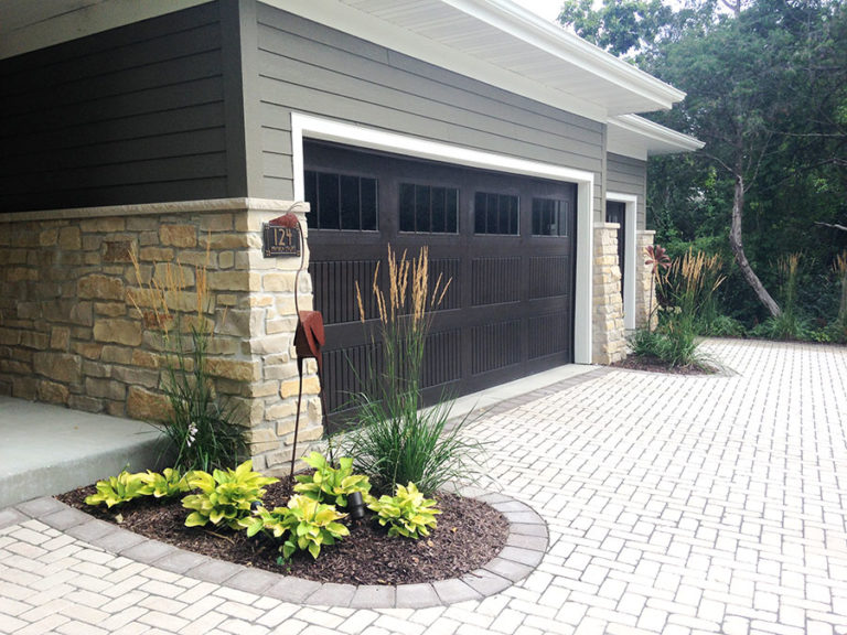 Paved Driveway with Garage