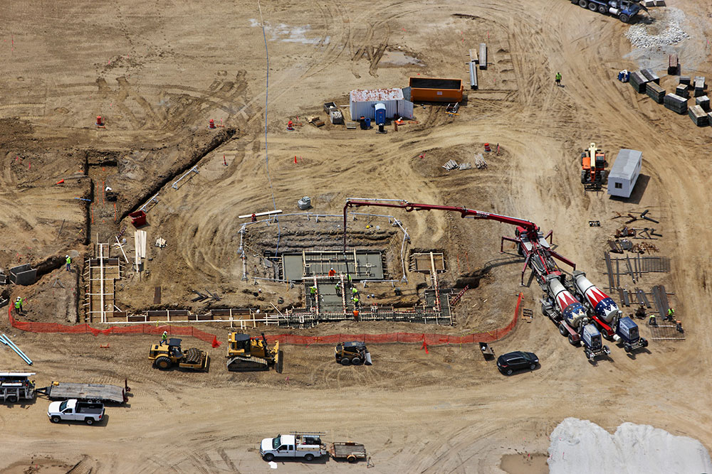 Aerial Construction Site